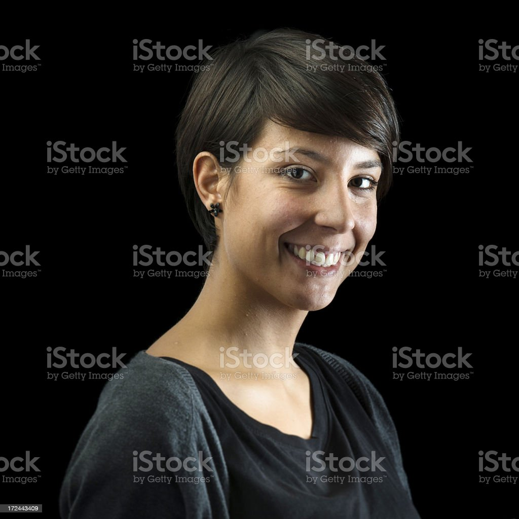 Smiling confidence woman portrait royalty-free stock photo