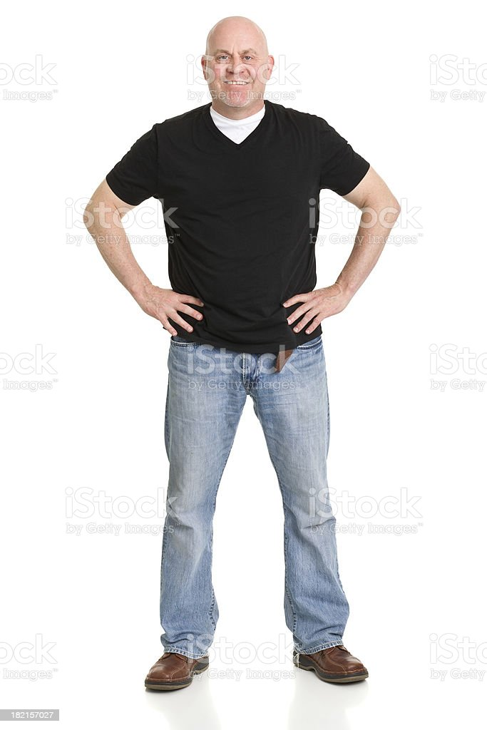 Smiling Confident Man Standing stock photo