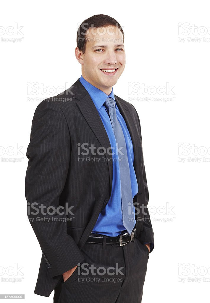 Smiling confidently royalty-free stock photo