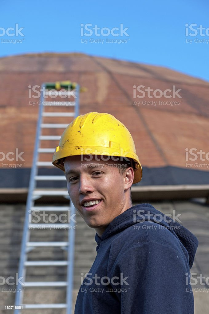 Smiling Construction Worker royalty-free stock photo