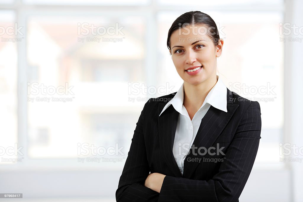 Smiling contemporary business woman. royalty-free stock photo