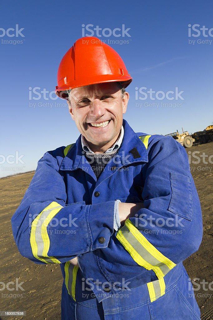Smiling Contractor royalty-free stock photo
