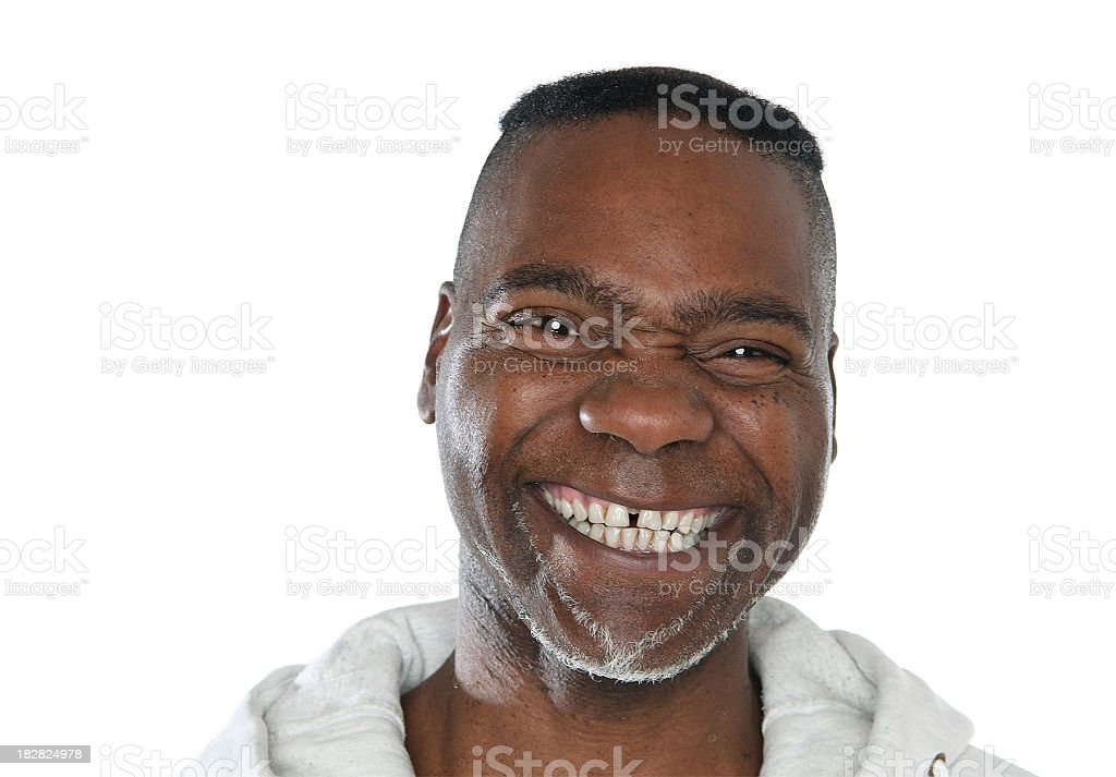 Smiling cool dude stock photo