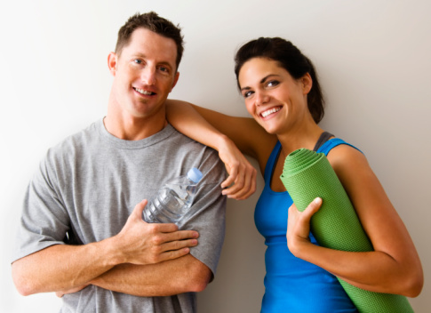 Smiling Couple At The Gym Stock Photo - Download Image Now
