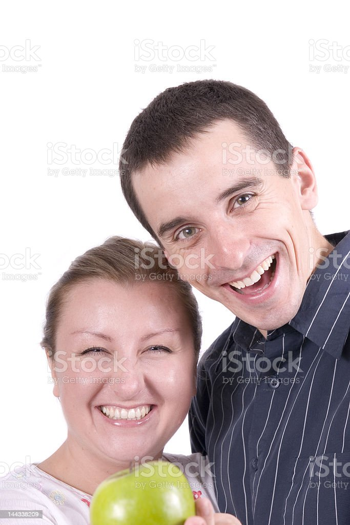 Smiling couple isolated royalty-free stock photo