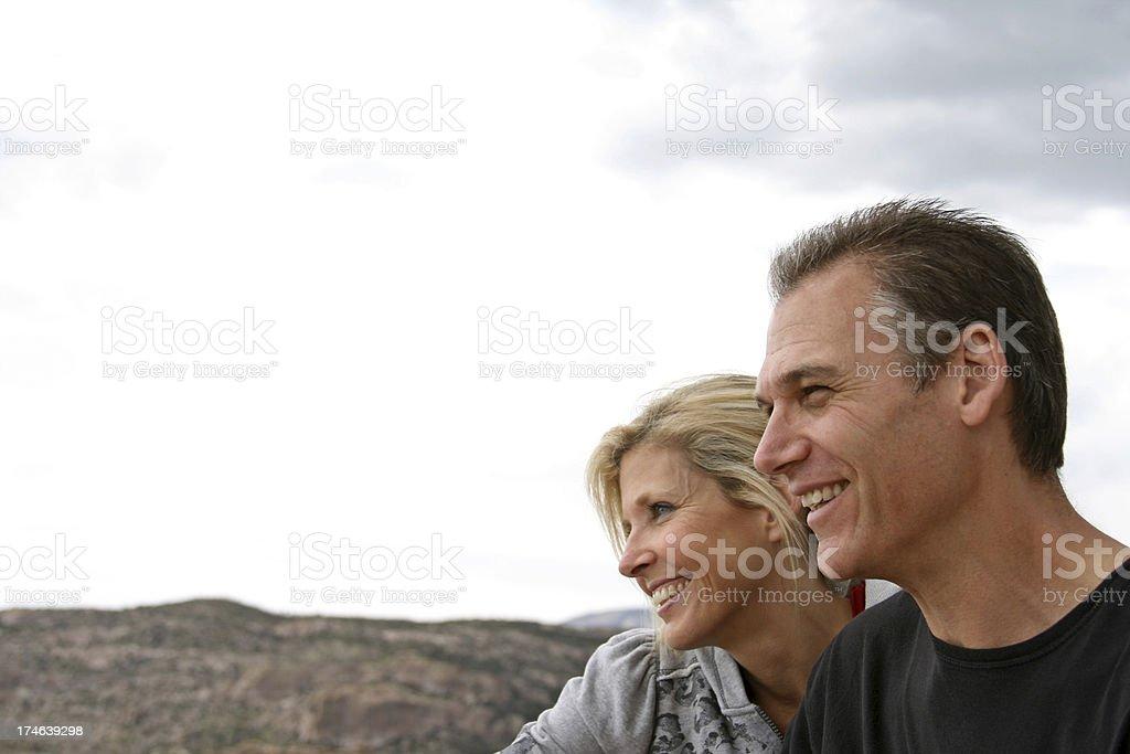 Smiling Couple royalty-free stock photo
