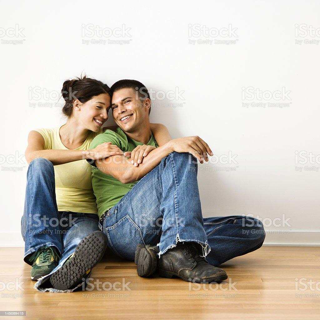 Smiling couple portrait. royalty-free stock photo