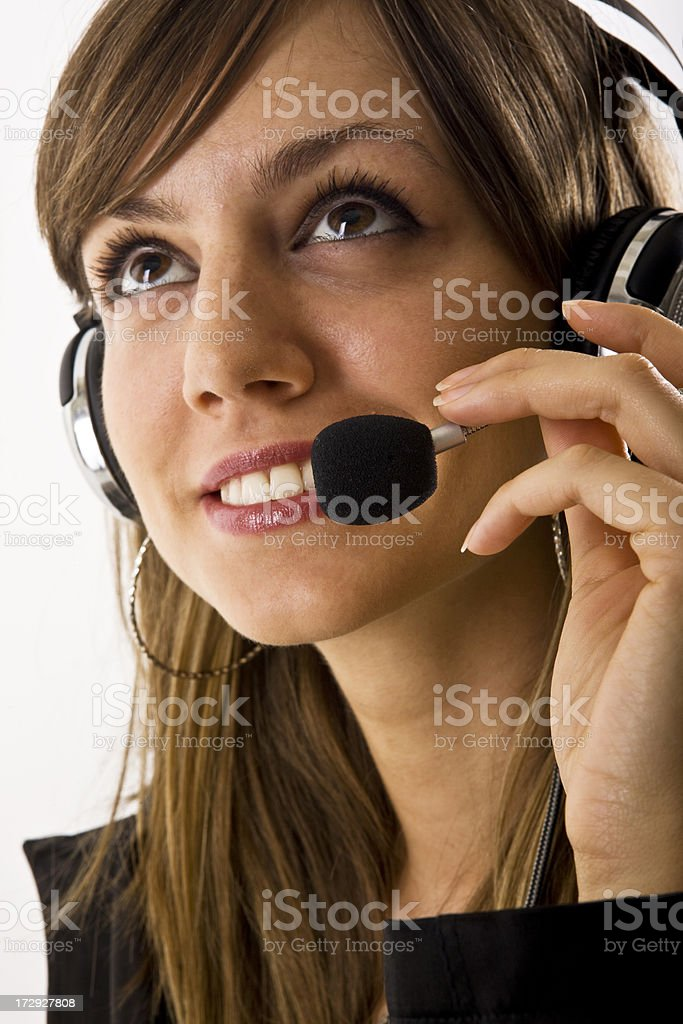 Smiling customer support royalty-free stock photo