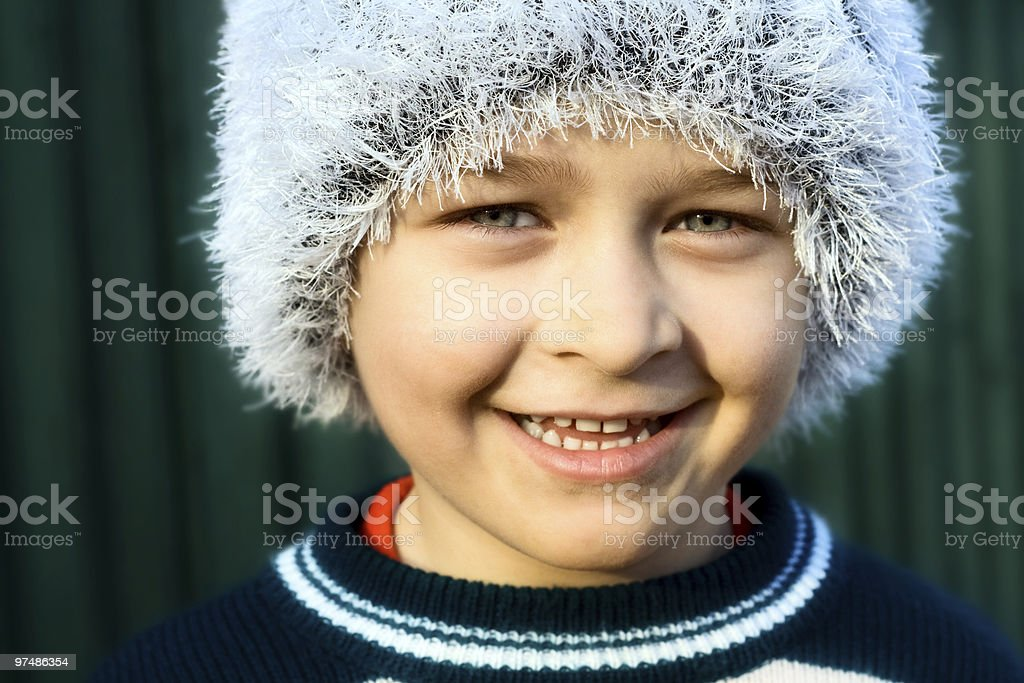 Smiling cute boy royalty-free stock photo