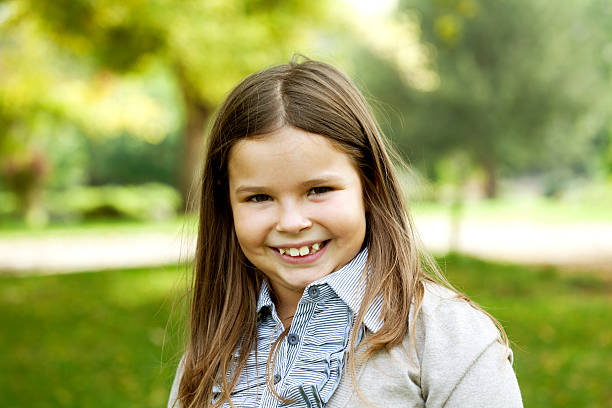 smiling cute girl stock photo
