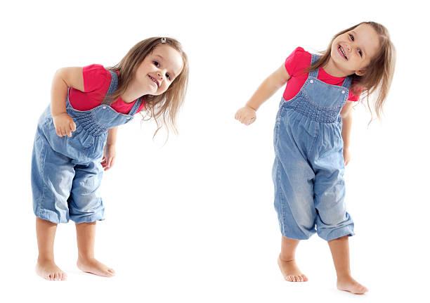 lächelnd tanz kleinkinder – mädchen – bild - 2 3 jahre stock-fotos und bilder