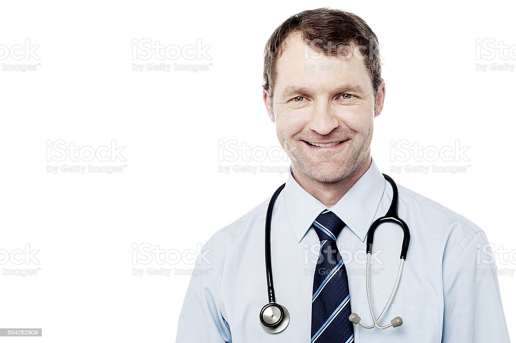 Smiling doctor isolated on white royalty-free stock photo