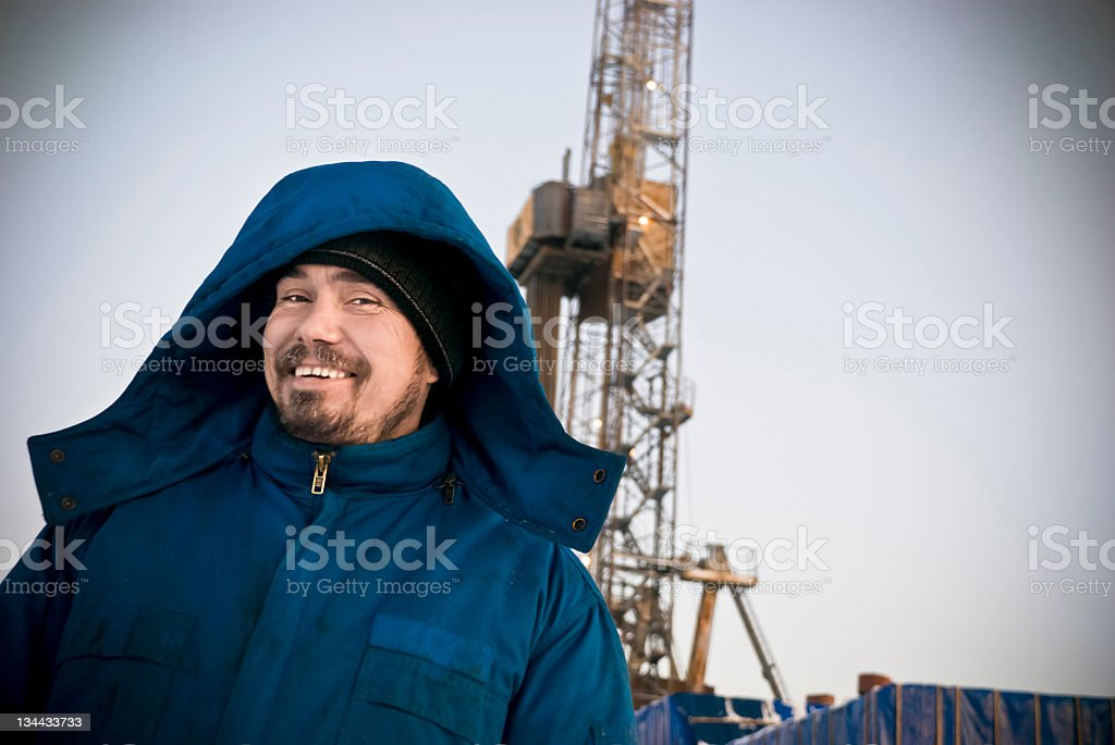 Smiling Driller royalty-free stock photo