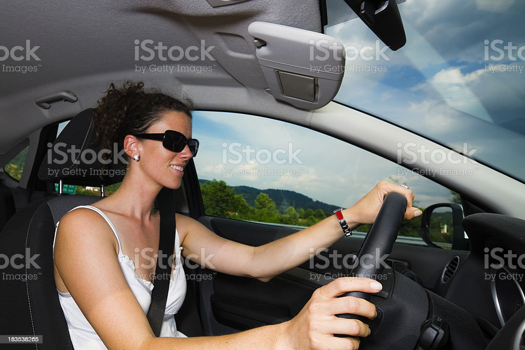 smiling driver royalty-free stock photo