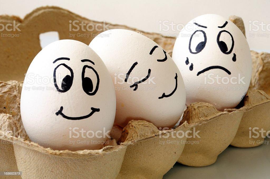 smiling eggs stock photo