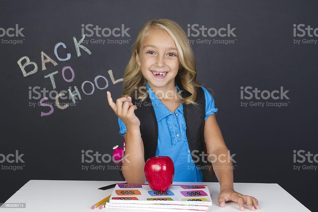 smiling elementary student royalty-free stock photo
