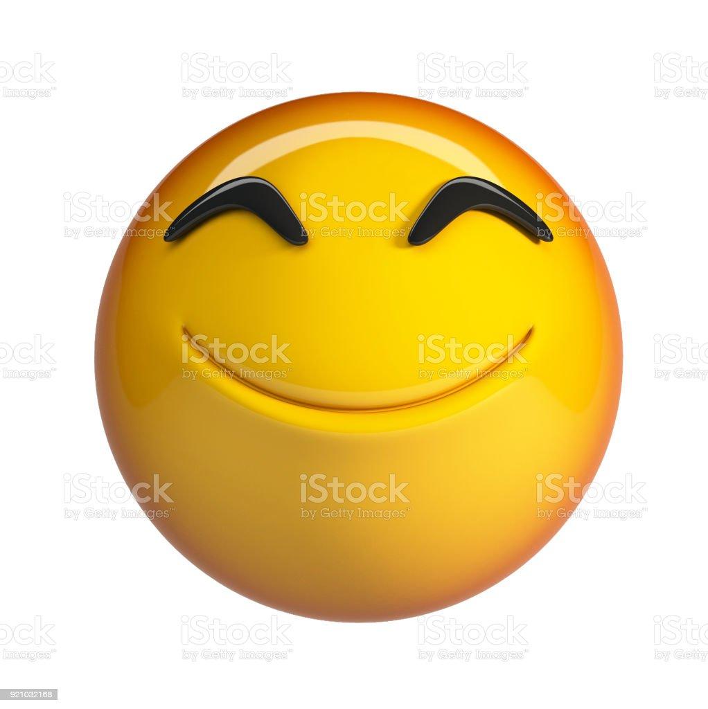 Smiling emoji. stock photo