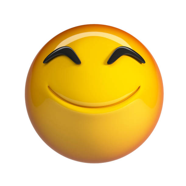 Emoji souriant. - Photo