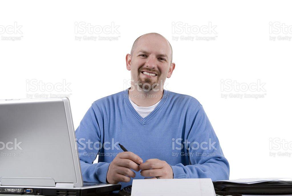 Smiling employee stock photo