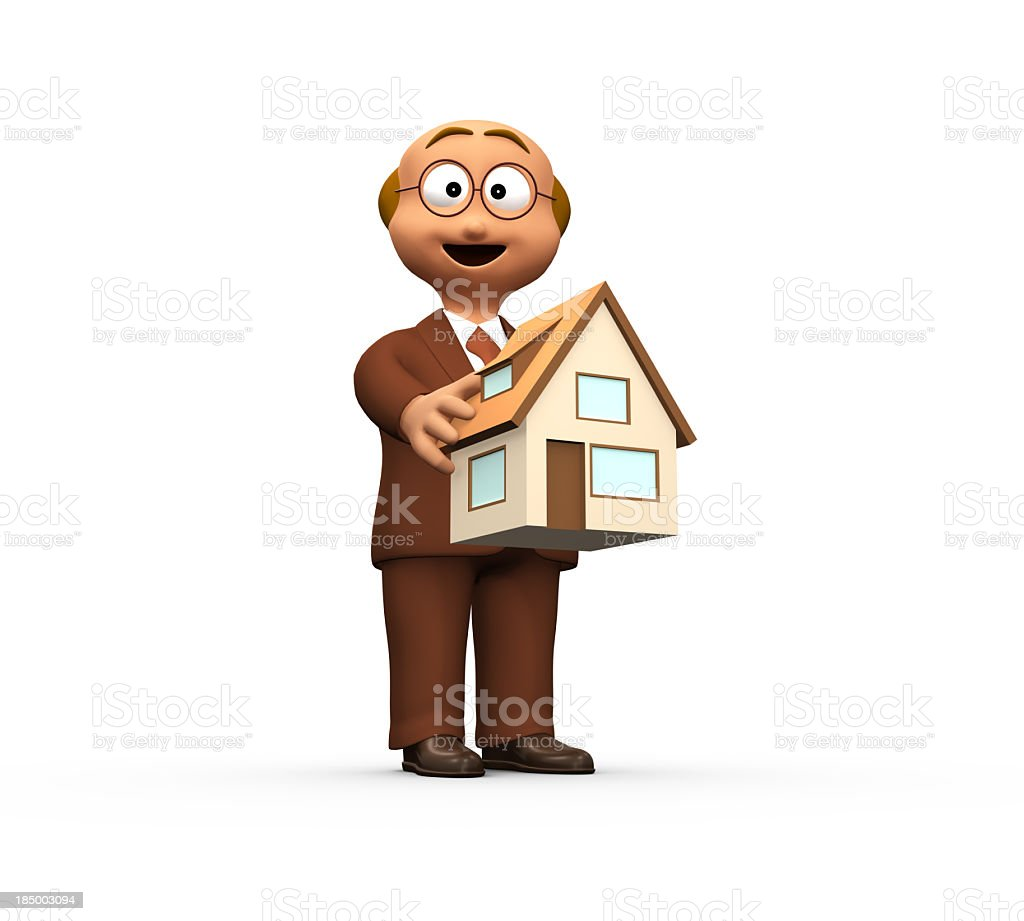 Smiling Estate Agent Offering New Home royalty-free stock photo