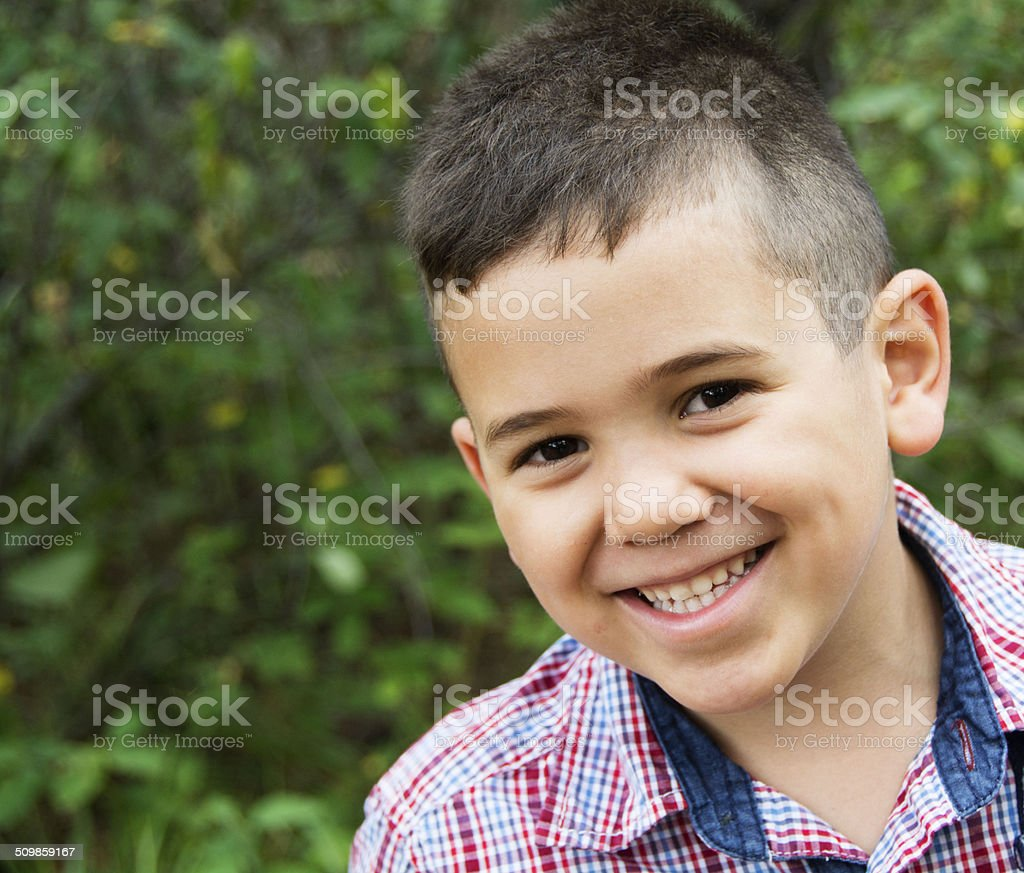 Smiling Ethnic Boy stock photo