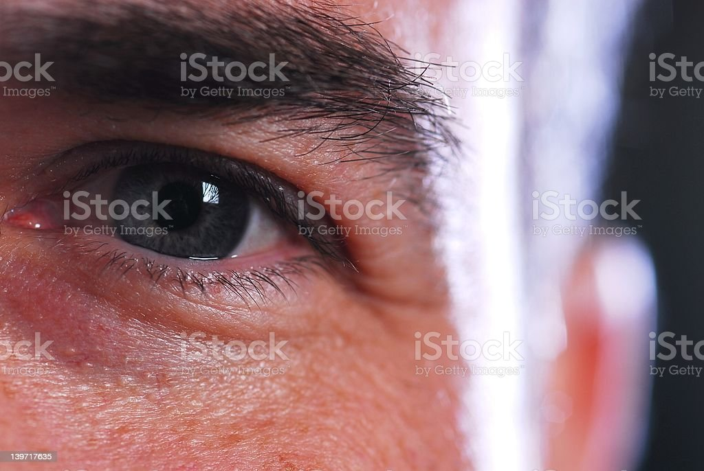 smiling eye royalty-free stock photo