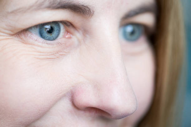 smiling eyes - eyelid stock photos and pictures
