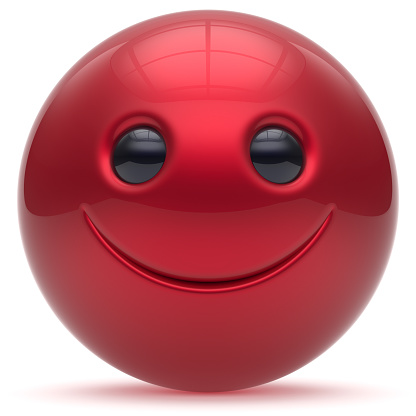 istock Smiling face head ball cheerful sphere emoticon cartoon red 1038104368