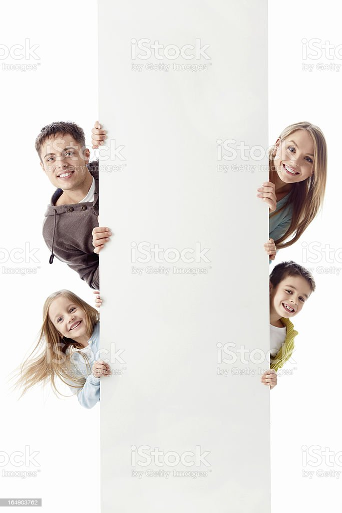 Smiling family royalty-free stock photo