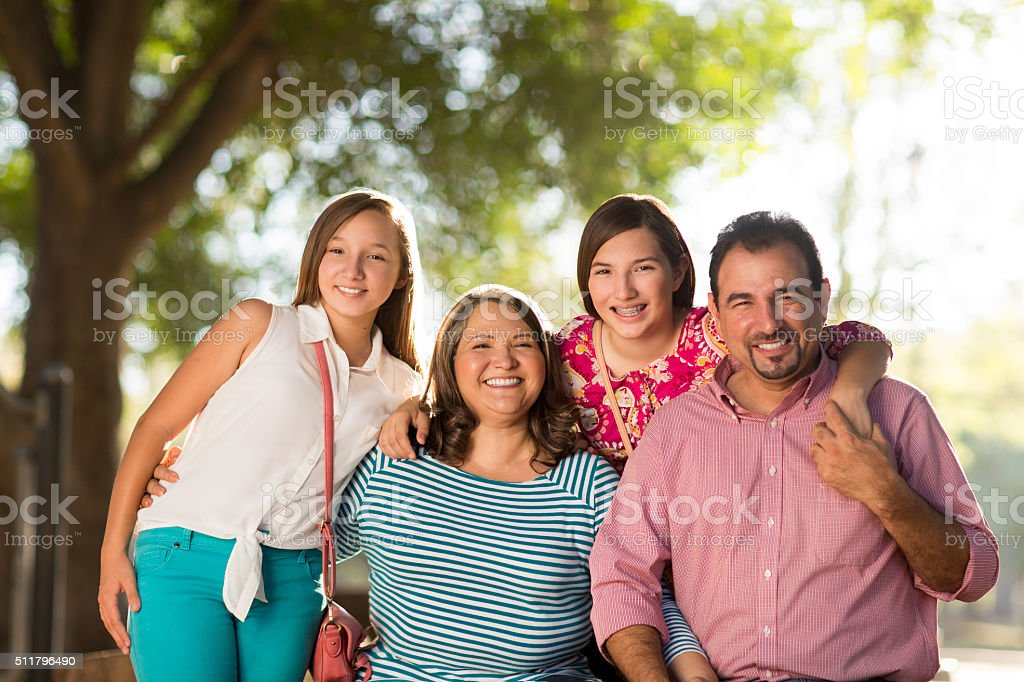 Smiling family stock photo