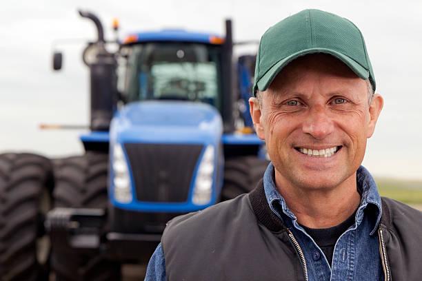Lächeln Landarbeiter – Foto