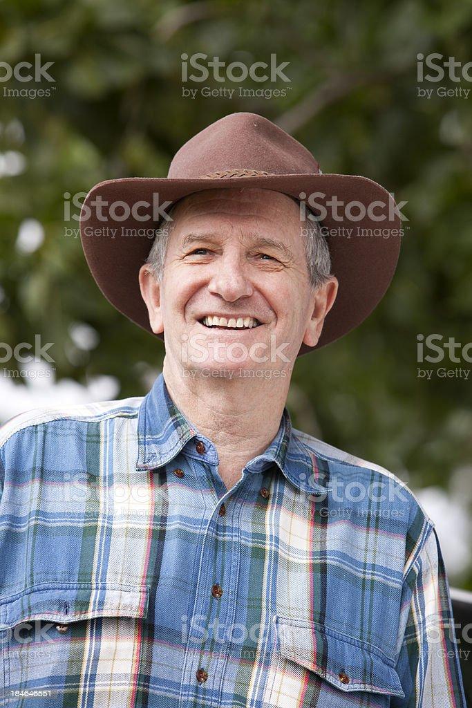 Smiling farmer stock photo