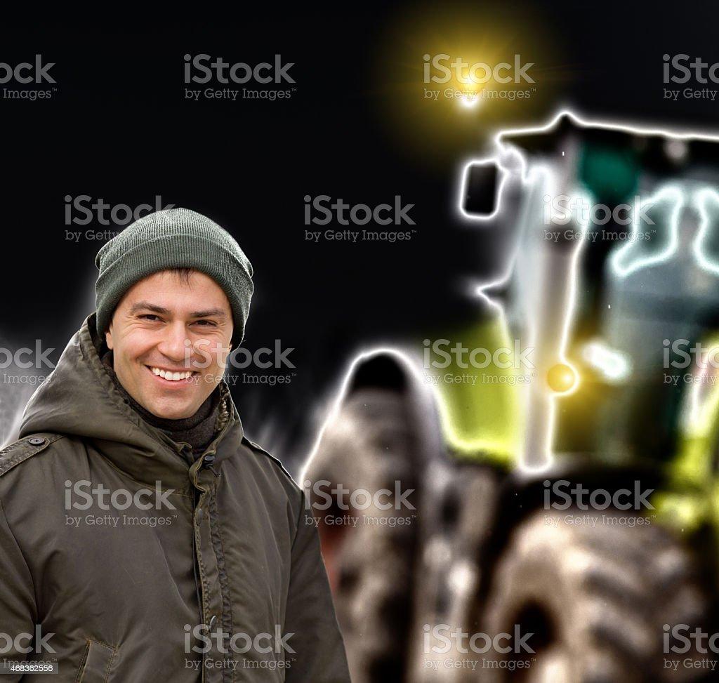 Smiling farmer royalty-free stock photo