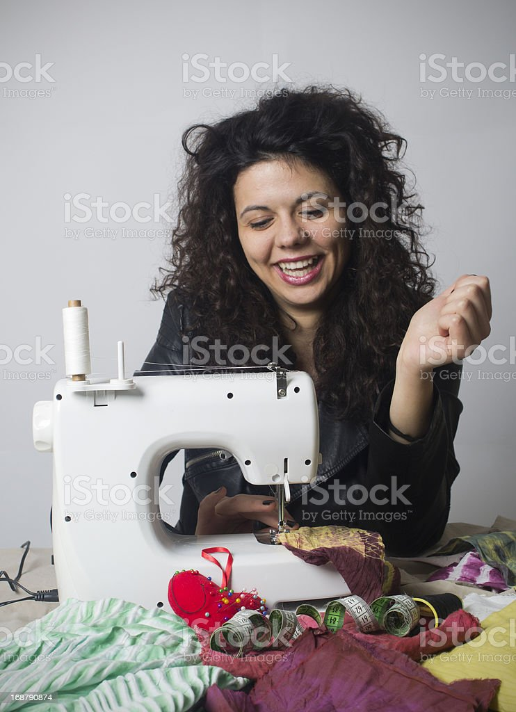 Smiling Fashion designer royalty-free stock photo