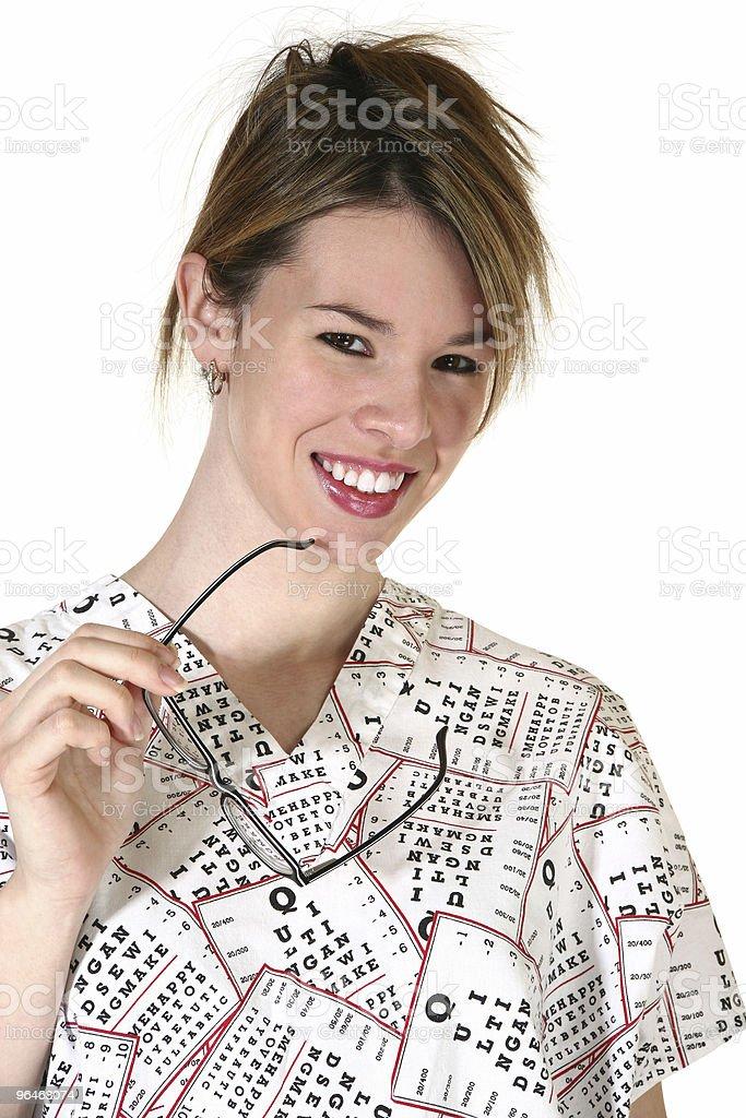 Smiling Female Eyedoctor royalty-free stock photo