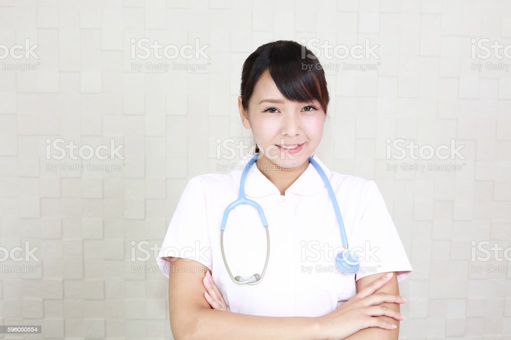 Smiling female nurse royalty-free stock photo