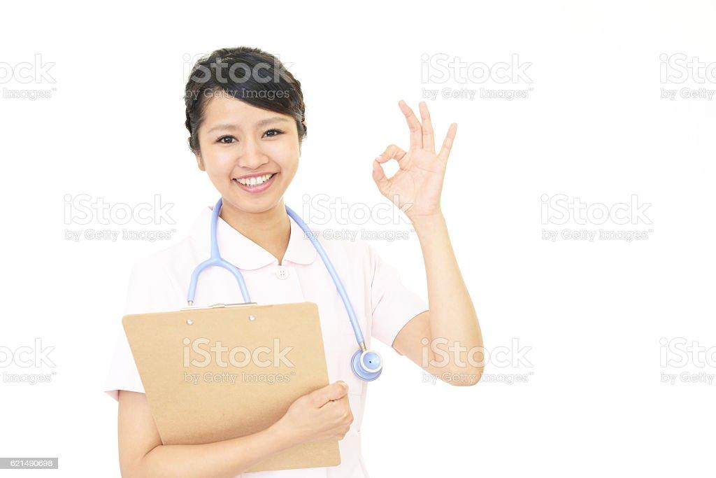 Souriant femme Infirmière photo libre de droits