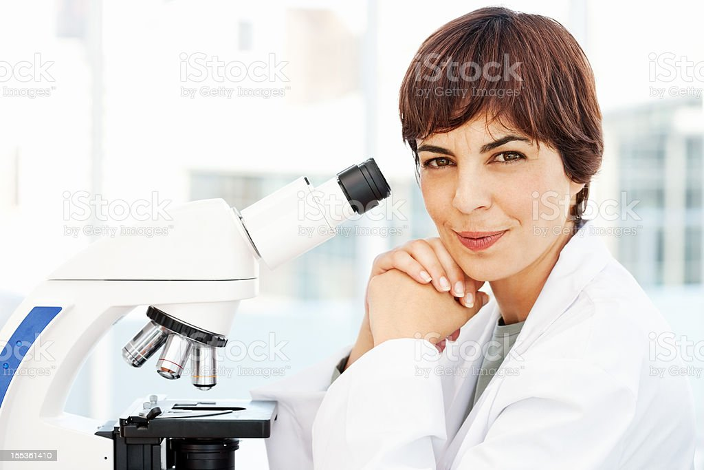 Smiling Female Pathologist royalty-free stock photo