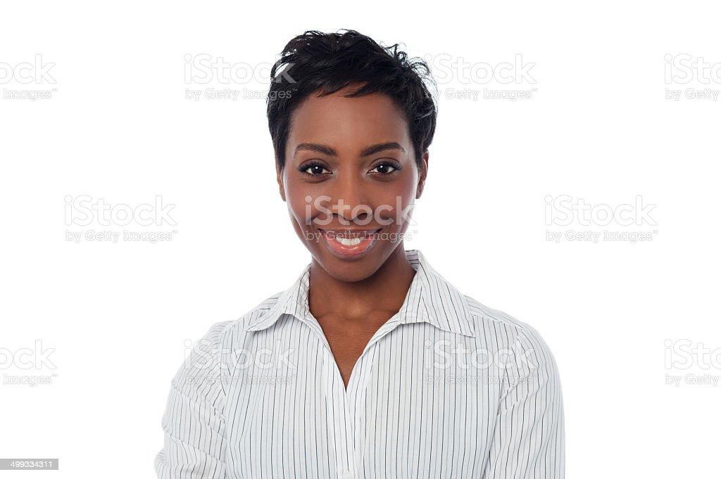 Smiling female secretary - Royalty-free Adult Stock Photo