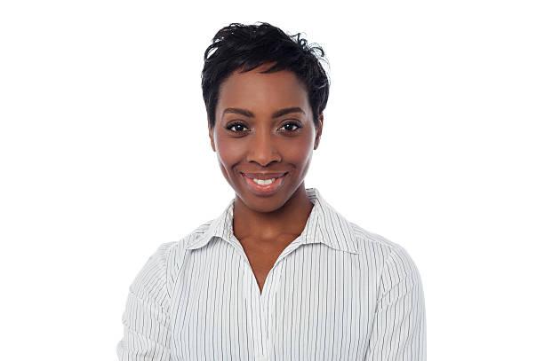 Lächelnd weibliche Sekretärin – Foto