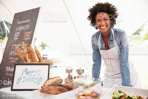 Smiling female selling food at a farmers food market picture id471213056?b=1&k=6&m=471213056&s=612x612&h=bfbzbeignq yimz i6qyhlyu7descotbwzrn piwpka=