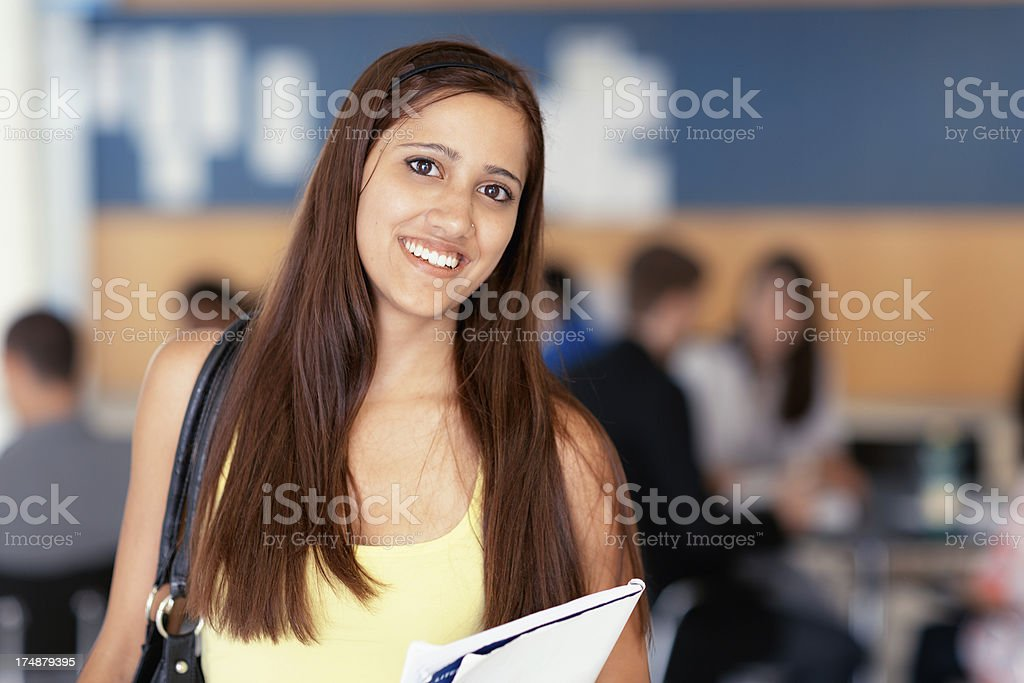 smiling female student royalty-free stock photo
