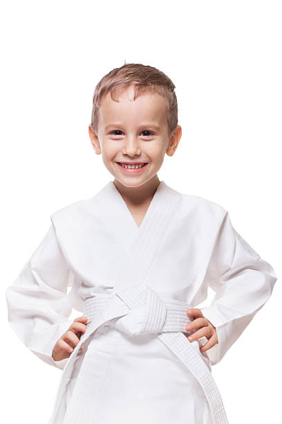 smiling fighter - sports uniform stock photos and pictures