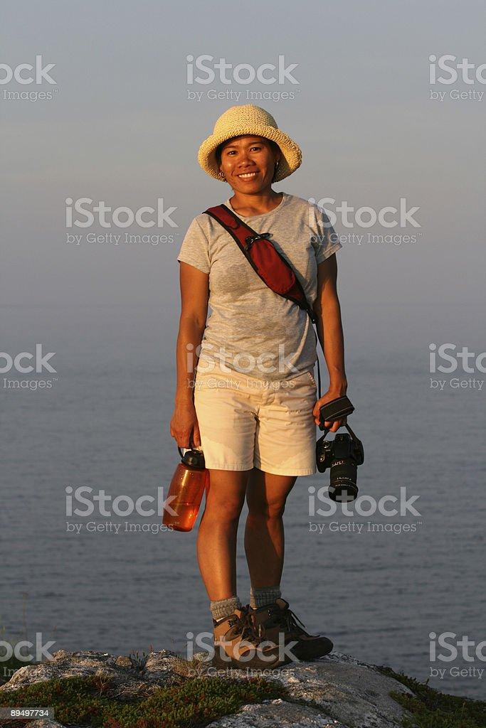 Smiling Filipino Hiker royalty free stockfoto