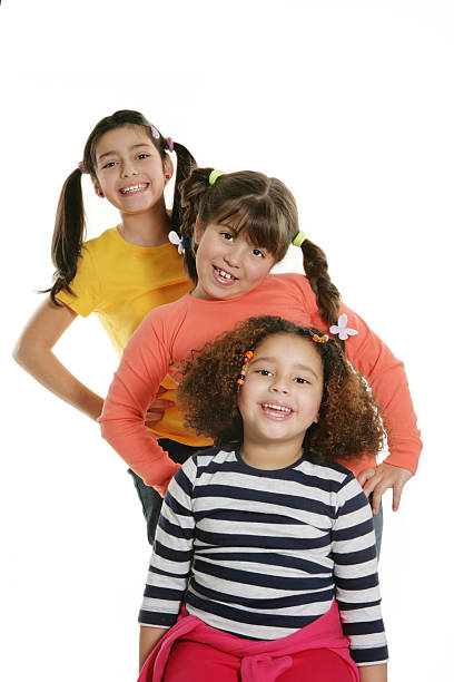 Smiling friends stock photo