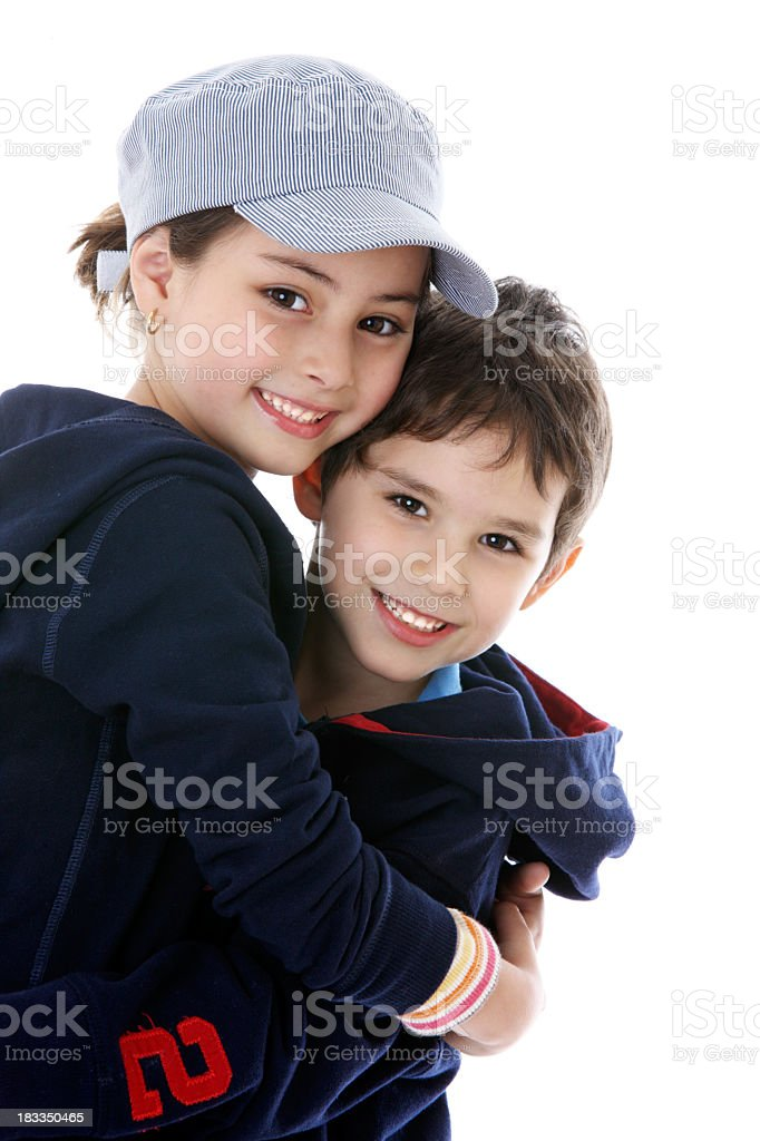 Smiling friends royalty-free stock photo