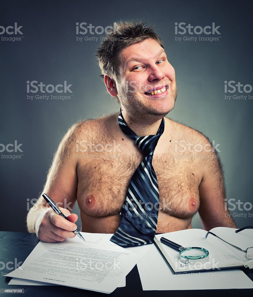 Smiling funny businessman royalty-free stock photo