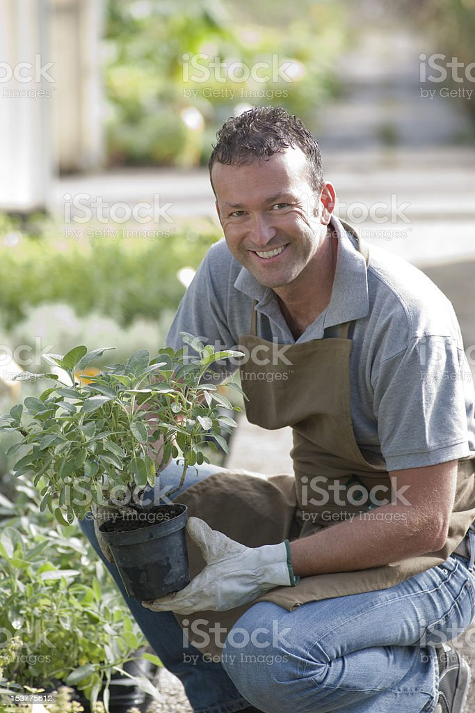 Smiling Gardener royalty-free stock photo