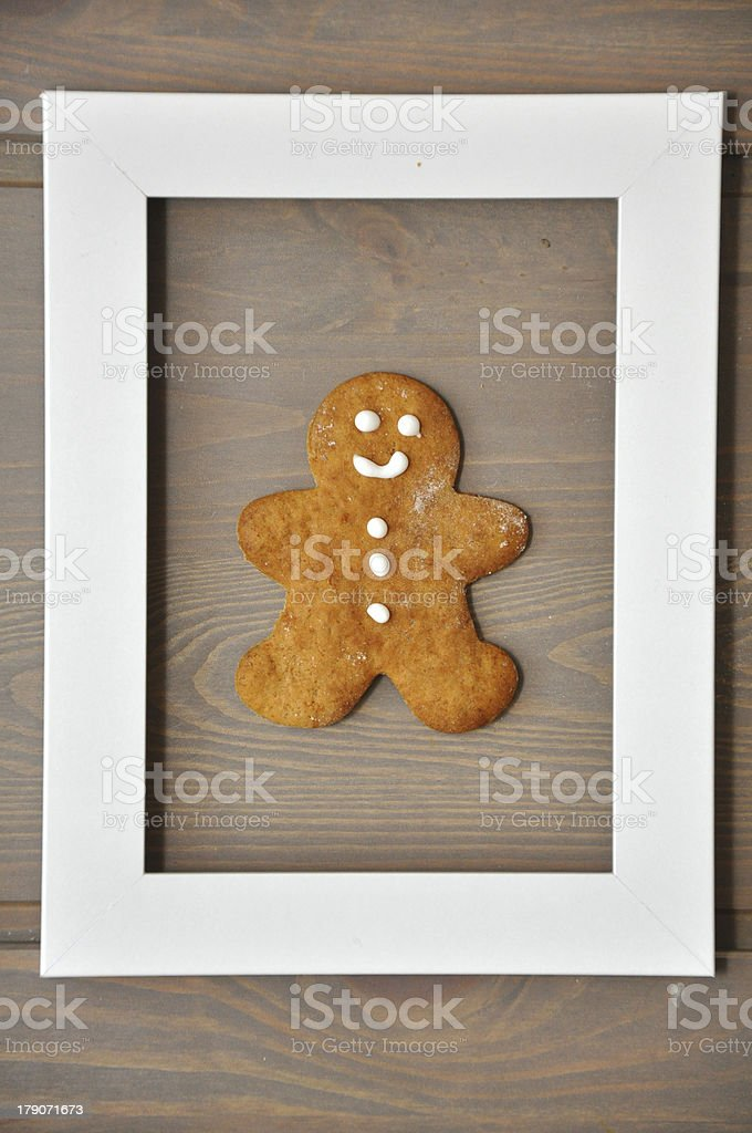 Smiling gingerbread men royalty-free stock photo