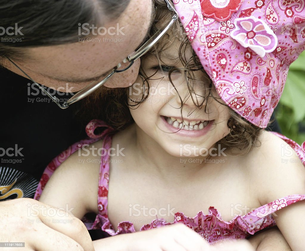 Smiling Girl Curly Hair royalty-free stock photo